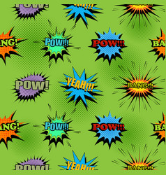 Comic light seamless pattern vector
