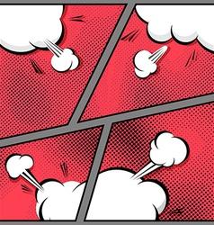 Comic page speech bubble pop-art explosion vector