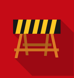 Construction barricade icon in flate style vector