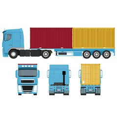 Container Truck Set vector image