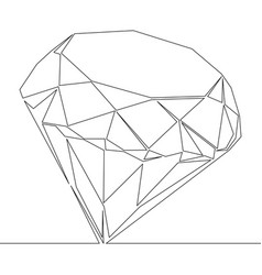 continuous line drawing diamond outline vector image
