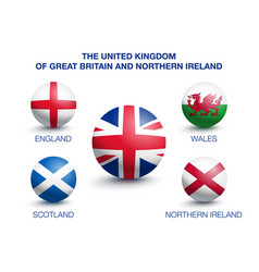 country of great britain in the form of a ball vector image