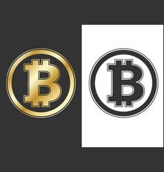 Crypto currency bitcoin symbols vector
