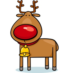 Cute christmas reindeer cartoon vector