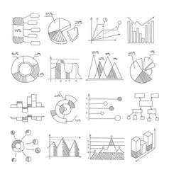 Data graphic representation charts different vector