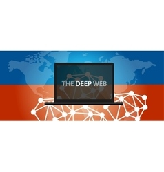 deep web dark net vector image