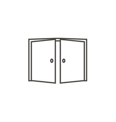 door open icon in trendy outline style isolated vector image