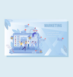 Email fishing digital marketing strategy poster vector