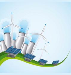 Energy or power generation sources renewable solar vector