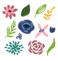 flower graphic design set of floral vector image