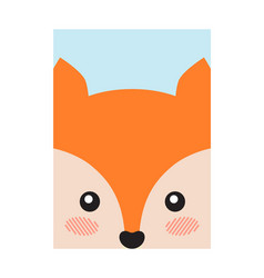 Fox head book cover design vector
