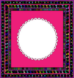 Frame and white napkin vector