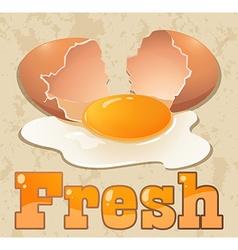 Fresh egg vector