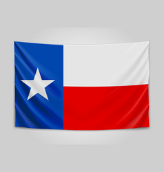 Hanging flag of texas state flag concept vector