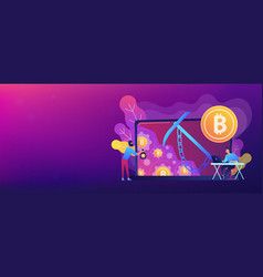 Hidden mining concept banner header vector