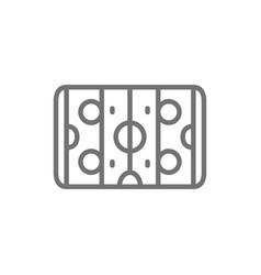 hockey field air hockey line icon vector image