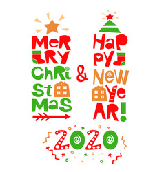 Holiday quotes happy new year and merry christmas vector