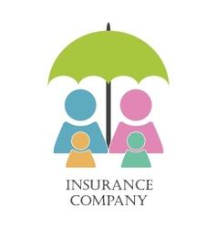 Insurance company emblem vector image
