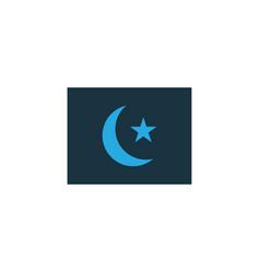 islam flag colorful icon symbol premium quality vector image