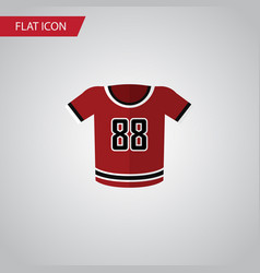 Isolated uniform flat icon t-shirt element vector