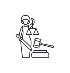justice line icon concept justice linear vector image