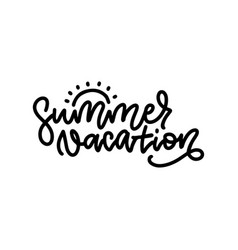 line lettering composition vector image