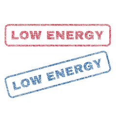 Low energy textile stamps vector