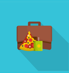 lunch icon flat style vector image