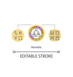 Mandala concept icon vector
