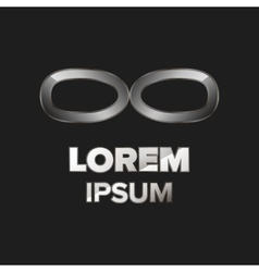 Metallic glasses logo vector
