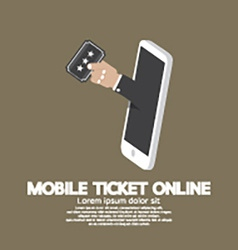 Mobile Ticket Online Concept vector