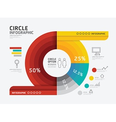 Modern infographic banner circle geometric vector image