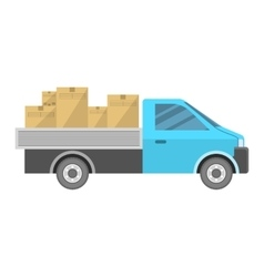 New car carrying goods vector