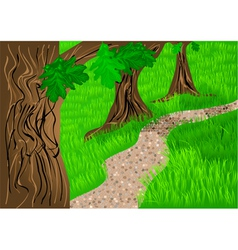 path and trees vector image