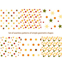 Patterns of simple geometric shapes vector