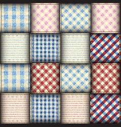 Plaid patchwork background vector