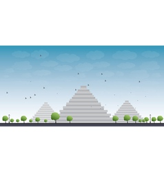 Pyramids in Giza vector