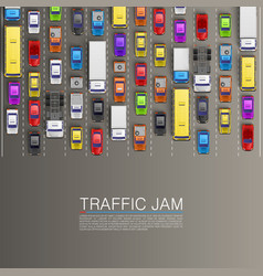 Raffic jam on the road vector