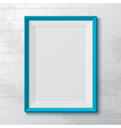 Realistic blue frame vector