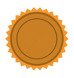 Silhouette with circular frame and sawtooth vector