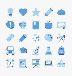 simple set school related vector image
