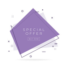special offer trendy flat geometric banner vector image