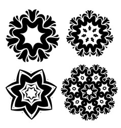stylized flowers mandala vector image