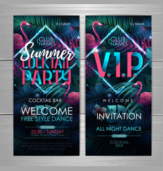 Summer disco cocktail party typography poster vector