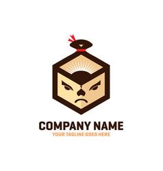 Sumo box logo design vector