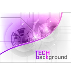 tech background in the purple color vector image