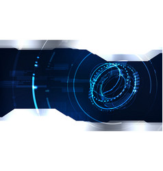 Technological cyber interface future system vector