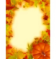 Thanksgiving holiday frame vector