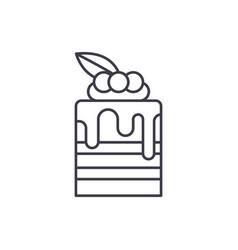 tiramisu line icon concept tiramisu linear vector image