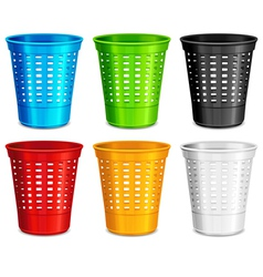Trash waste basket vector